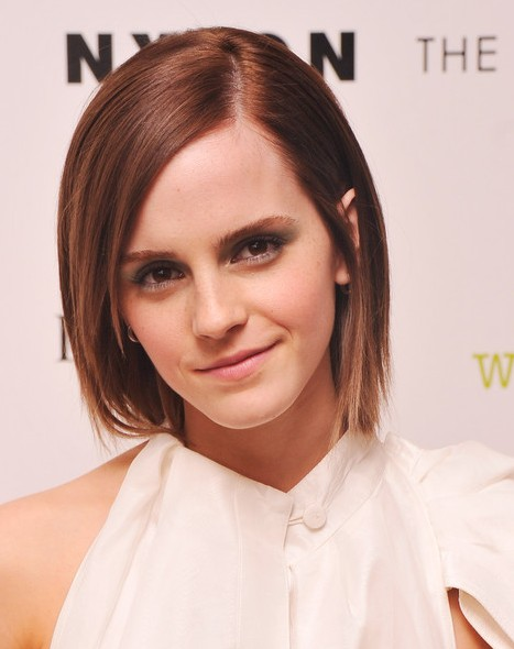 Emma Watson Layered Razor Haircut For Short Hair Hairstyles Weekly