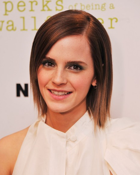 Short Hairstyles 2013: Emma Watson Short Sleek Hairstyle