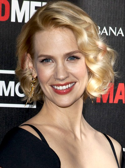 January Jones Short Hair: The Romantic Curly hair styles