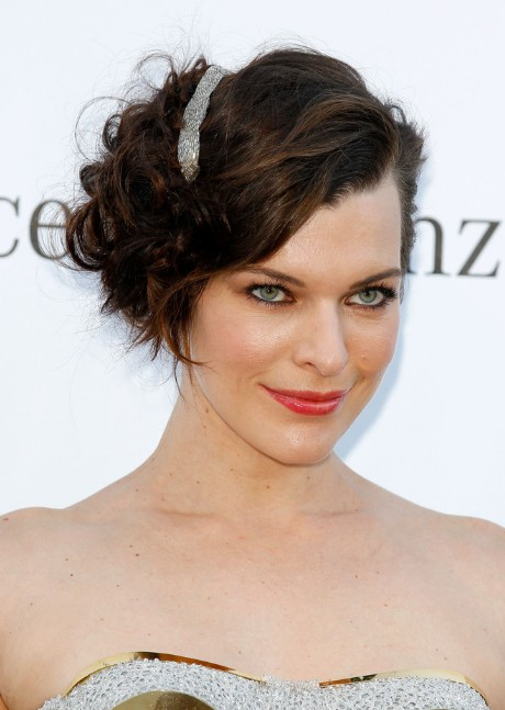 Milla Jovovich Curly Bob Hairstyles 2013
