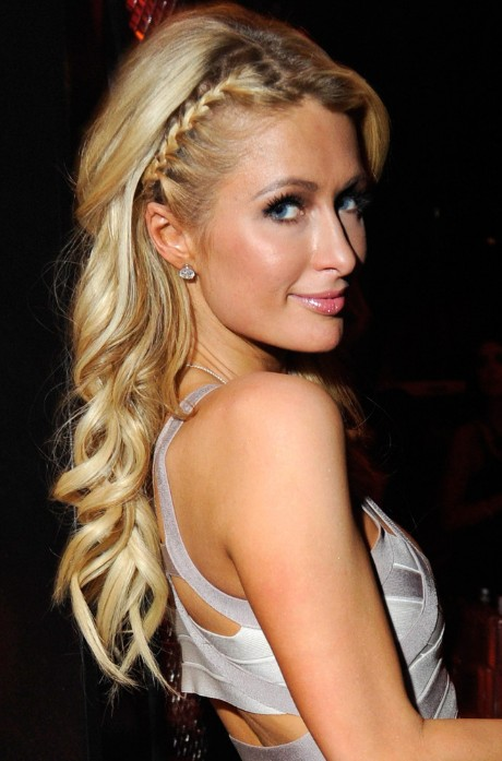 Groovy Paris Hilton Braided Hairstyle For Long Hair Hairstyles Weekly Short Hairstyles For Black Women Fulllsitofus