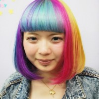 Short Rainbow Bob Hairstyle 2013