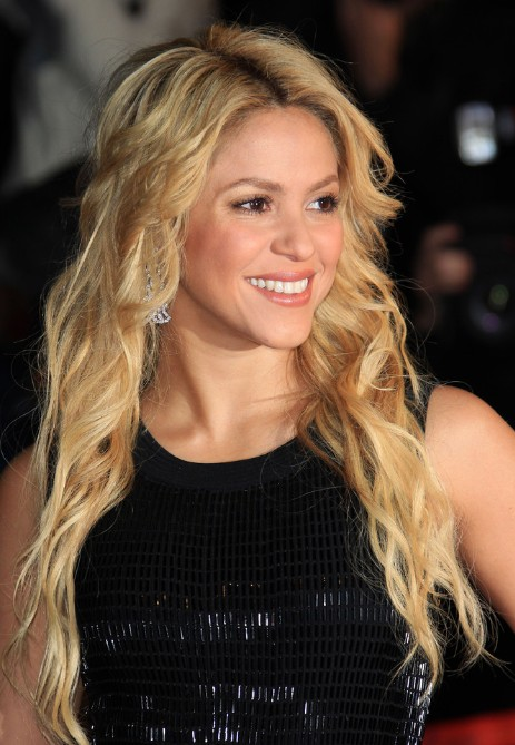 Red Carpet Long Hairstyles 2013 from Shakira