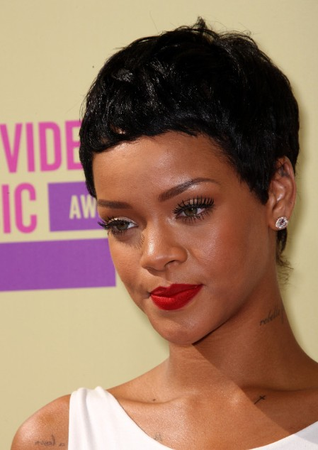 rihanna latest new short black boy cut for women