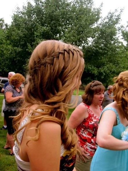 Admirable 1000 Images About Kira Prom Hairstyles On Pinterest Waterfall Hairstyle Inspiration Daily Dogsangcom