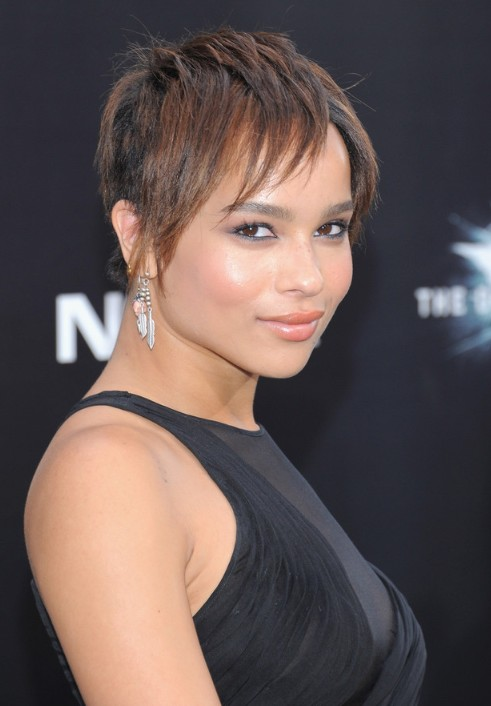 Celebrity Zoe Kravitz Short Straight Haircut for 2013
