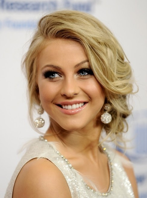 Ideas For Prom Hair An Elegant Updo With Side Swept Bangs
