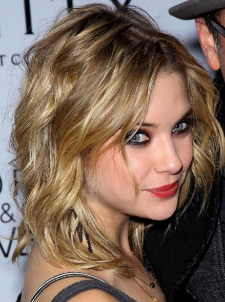 Ashley benson sexy medium wavy hairstyle 2013 hairstyles weekly