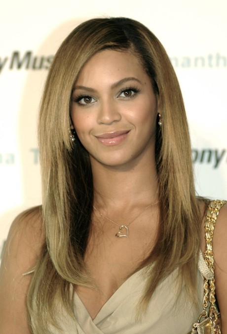 Pleasing Beyonce Knowles Long Sleek Side Parted Hairstyle Hairstyles Weekly Short Hairstyles For Black Women Fulllsitofus