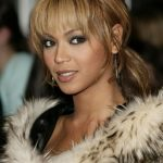 Beyonce Knowles Loose Ponytail With Bangs