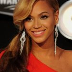 Beyonce Knowles Side Ponytail With Bangs