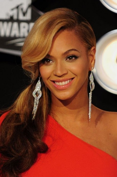 Admirable Beyonce Knowles Side Ponytail With Bangs Hairstyles Weekly Short Hairstyles Gunalazisus