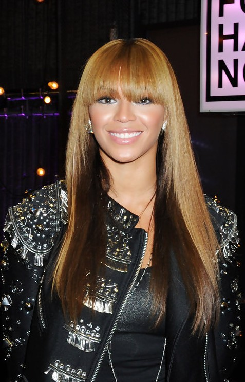 beyonce knowles long straight ombre hair - hairstyles weekly