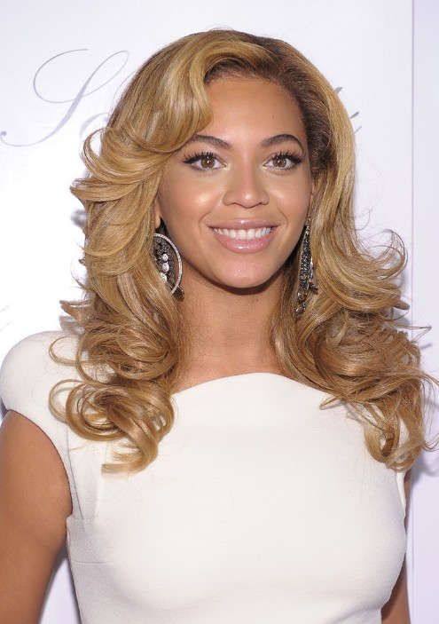 Enjoyable Beyonce Knowles Long Wavy Curly Hairstyle Hairstyles Weekly Short Hairstyles For Black Women Fulllsitofus
