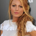 Blake Lively's Messy twisted fishtail braid