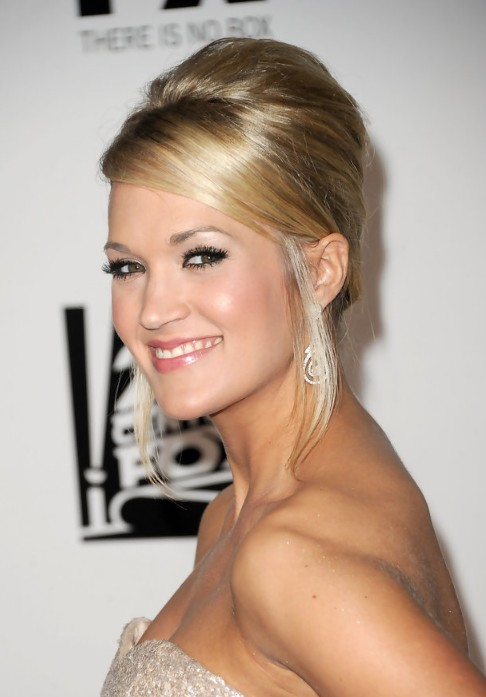 Carrie Underwood French Twist Updo Hairstyle