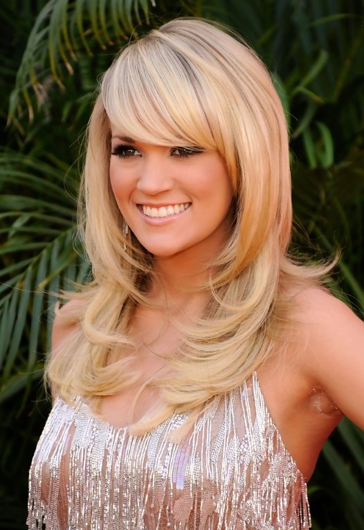 Layered Long Blonde Hairstyles with Bangs | Hairstyles Weekly