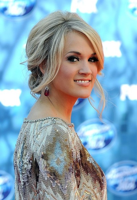 Carrie Underwood Loose Messy Updo Hairstyles - Hairstyles ...