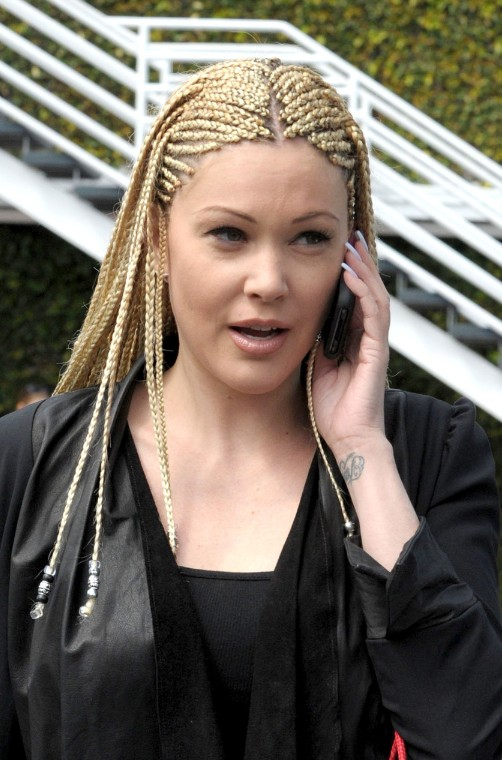 White Cornrows: Celebrity Cornrows Hairstyles for Long Hair