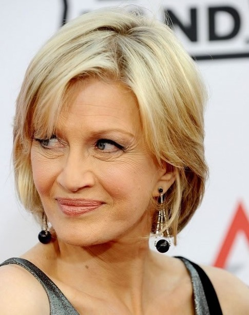 Diane Sawyer Chin Length Hairstyles for Women Over Age 50 - Hairstyles ...