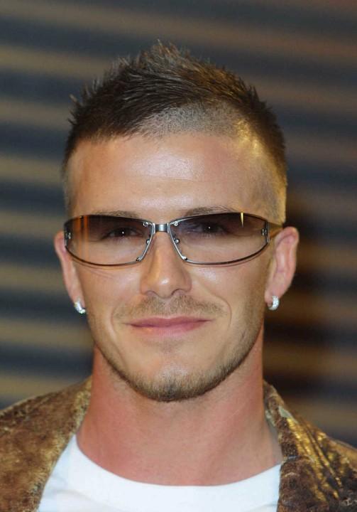 Cool Short Haircut For Men David Beckham S Cool Edgy
