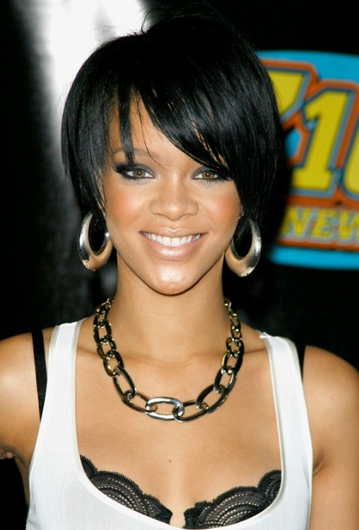 African American Hairstyles from Rihanna: Cute Bob Cut | Hairstyles ...