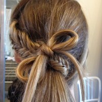 Cute Fishtail Braid with Pretty Little Perfect Bow