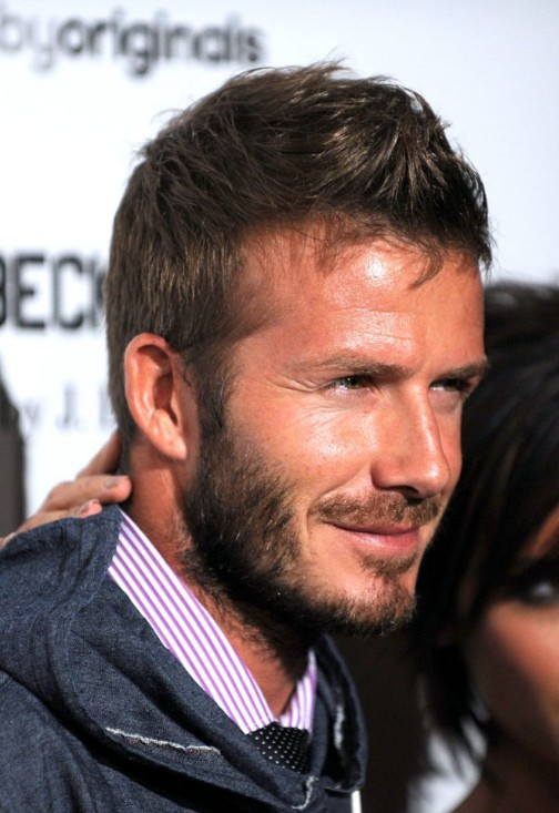 Tremendous 2013 Short Haircut For Men David Beckham Faux Hawk Hairstyles Hairstyles For Women Draintrainus