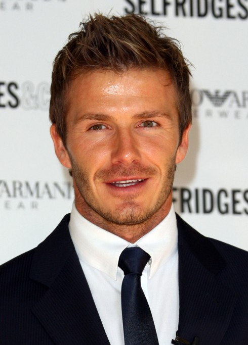 David Beckham Messy Hairstyles: Messy Spiked Short Hairstyle for Men