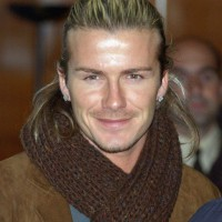 David Beckham Ponytail Hairstyle: Cool Ponytail for Men