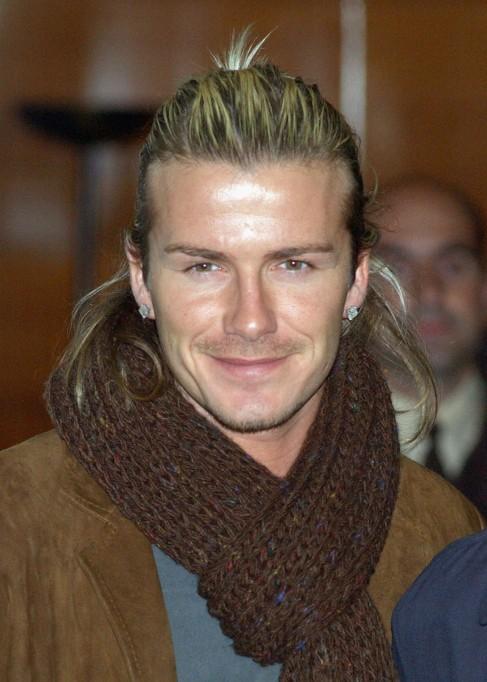 Awe Inspiring David Beckham Ponytail Hairstyle Cool Ponytail For Men Short Hairstyles Gunalazisus