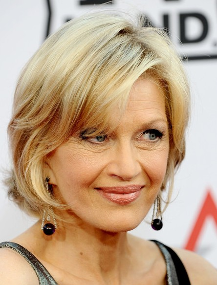 Diane Sawyer Chic Hairstyle With Bangs Hairstyles Weekly