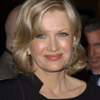 Diane Sawyer Medium Wavy Hairstyle for Women Over 50s