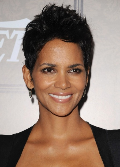 Halle Berry Layered Short Black Pixie Cut Hairstyles Weekly