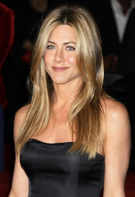 Groovy Jennifer Aniston Long Straight Center Part Hairstyle Hairstyles Short Hairstyles Gunalazisus