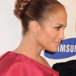 Jennifer Lopez Braided Bun Updo Hairstyle
