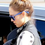 Jessica Alba Loose High Bun Updo