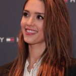 Jessica Alba Long Red Hairstyles