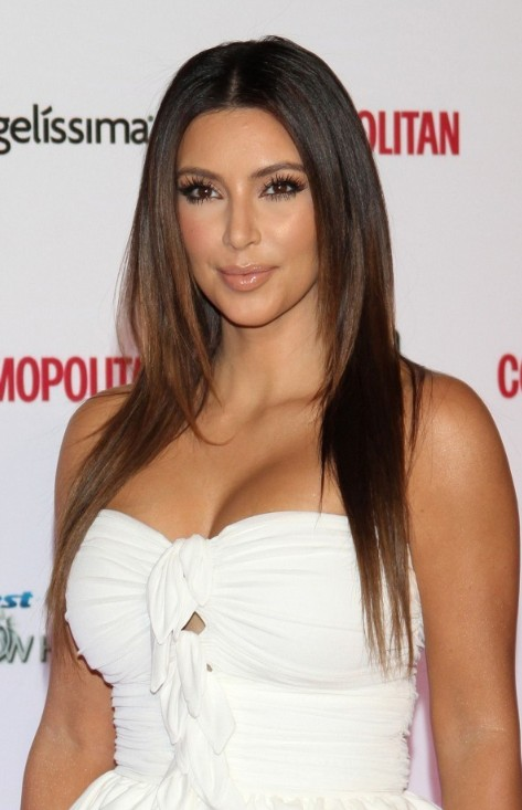kim kardashian long sleek hairstyle hairstyles weekly