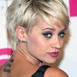 Kimberly Wyatt Short Silver Pixie Hairstyles 2013