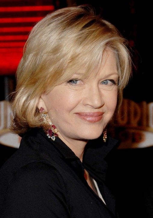 Diane Sawyer's Layered Medium Length Hairstyles for Women Over 50s