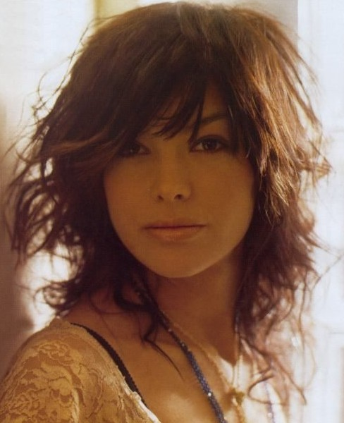 Astounding Layered Medium Messy Curly Haircut With Side Bangs Hairstyles Weekly Hairstyle Inspiration Daily Dogsangcom