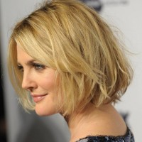 Layered Short Bob Hairstyles for Women Over 50s