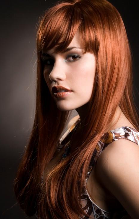 Hair long red redhead