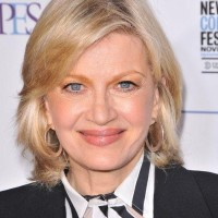 Medium Layered Hairstyle for Older Women from Diane Sawyer