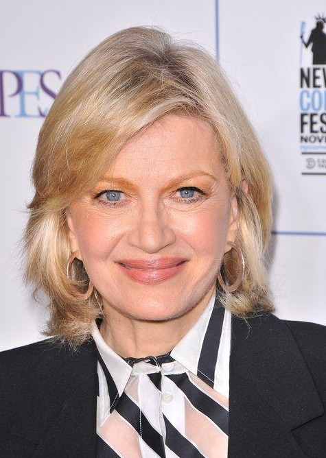Medium Layered Hairstyle for Older Women from Diane Sawyer ...