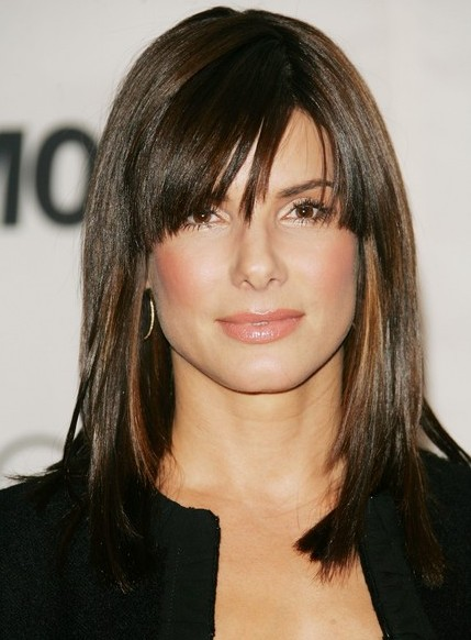 medium length haircuts with side swept bangs and layers popular hairstyles with cool bangs hairstyles weekly 3441