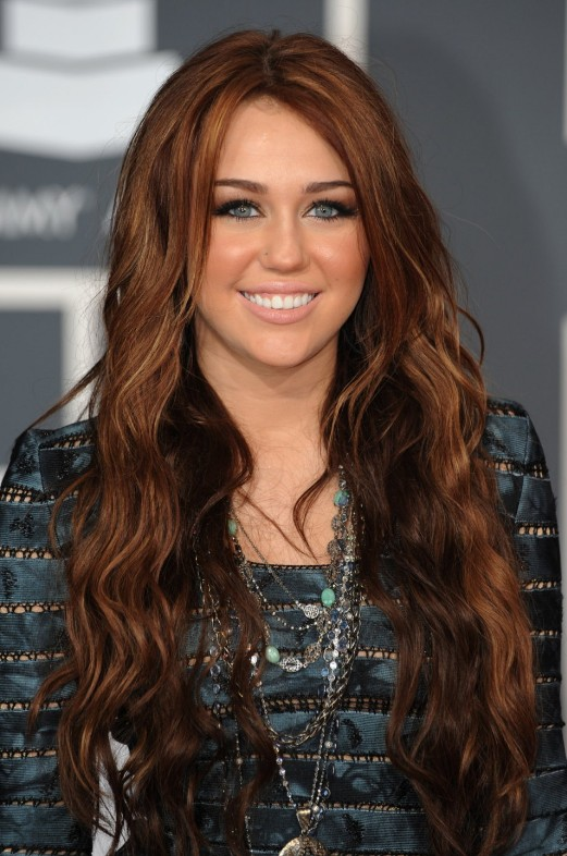 Miley Cyrus Long Red Hairstyle: 2012 – 2013 Hair Color Trends
