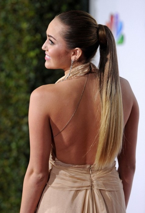 Miley Cyrus Long Sleek Ponytail Hairstyles - Hairstyles Weekly