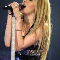 Miley Cyrus Long Straight Hairstyles sleek